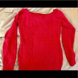Ralph Lauren Rugby knit blend sweater, S,  Berry